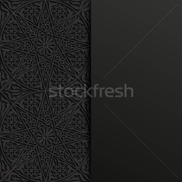 Résumé traditionnel ornement design noir wallpaper Photo stock © AbsentA