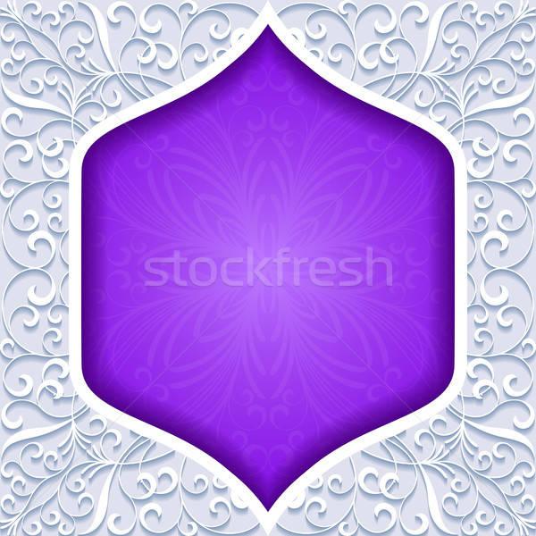 Résumé traditionnel ornement papier design cadre Photo stock © AbsentA