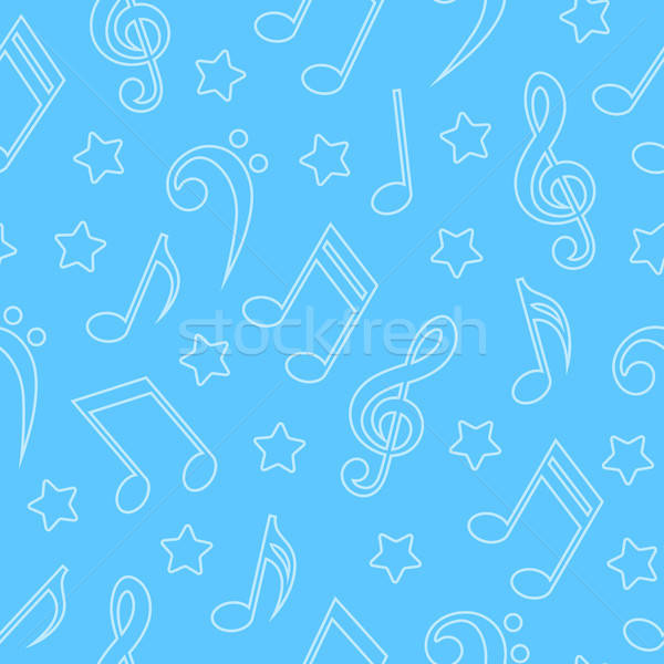 Seamless pattern with musical notes Stock photo © AbsentA