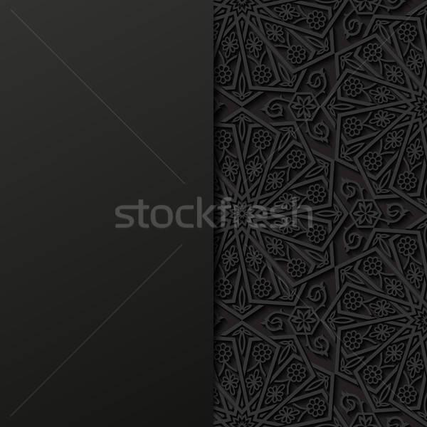 Résumé traditionnel ornement fond noir asian Photo stock © AbsentA