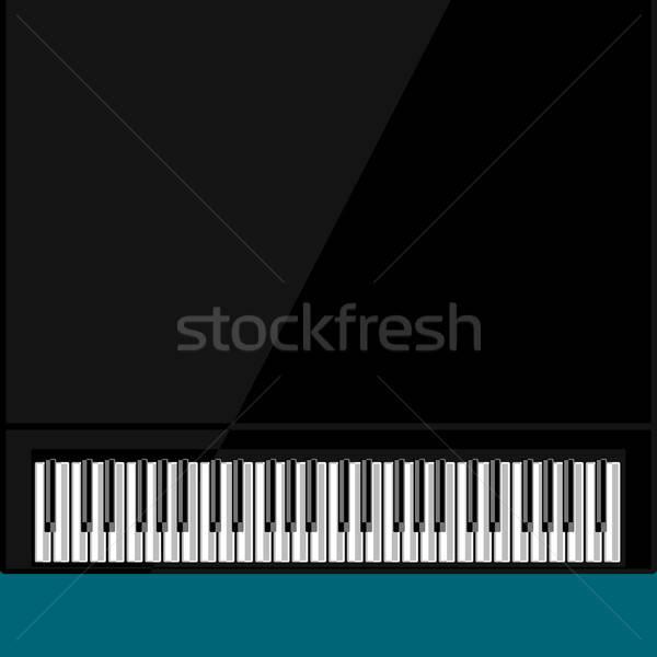 Soyut kuyruklu piyano müzik dizayn klavye sanat Stok fotoğraf © AbsentA