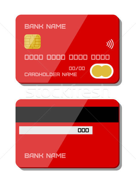 Credit card icons. Flat design Stock photo © AbsentA