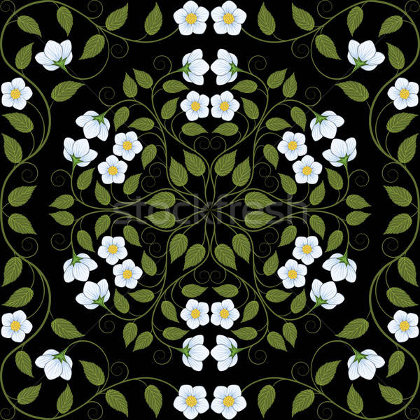 Abstract seamless floral pattern. Retro background. Vector illustration. Stock photo © AbsentA