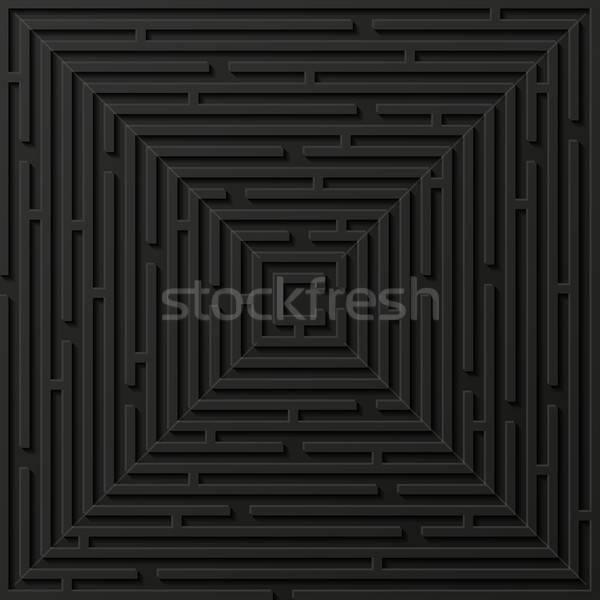 Abstract labyrint papier textuur achtergrond puzzel Stockfoto © AbsentA