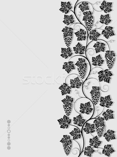 Seamless floral background with a vine. Vector illustration.  Stock photo © AbsentA