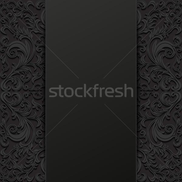 Abstract ontwerp achtergrond zwarte retro Stockfoto © AbsentA