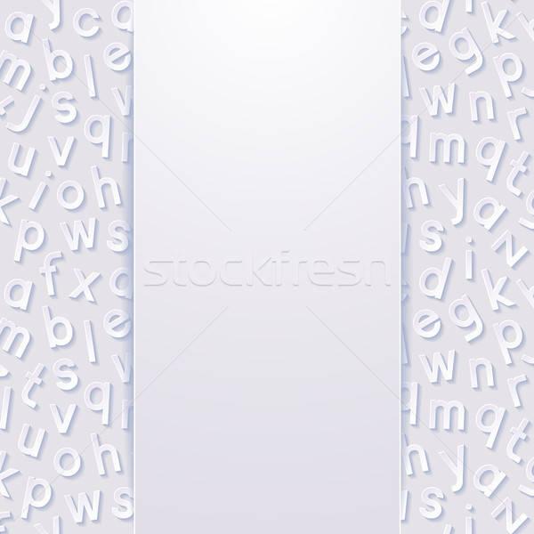 Résumé alphabet papier fond lettre science Photo stock © AbsentA