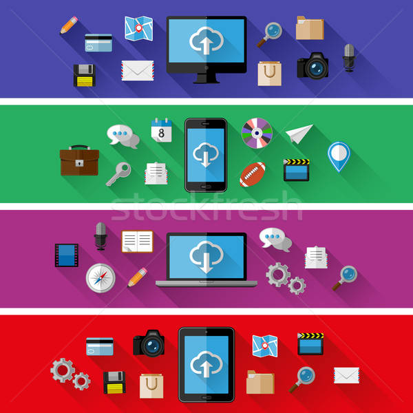 Stock photo: Set of web and business concepts. Flat design. Vector illustration.