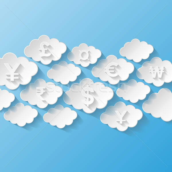 Abstract background with currency symbols Stock photo © AbsentA