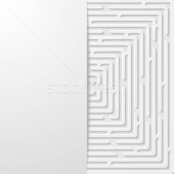 аннотация футуристический бумаги фон обои белый Сток-фото © AbsentA