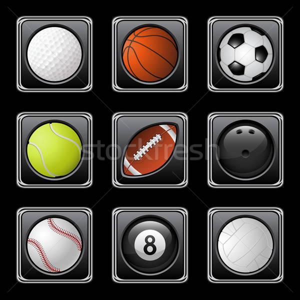 Сток-фото: спортивных · иконки · гольф · Футбол · футбола