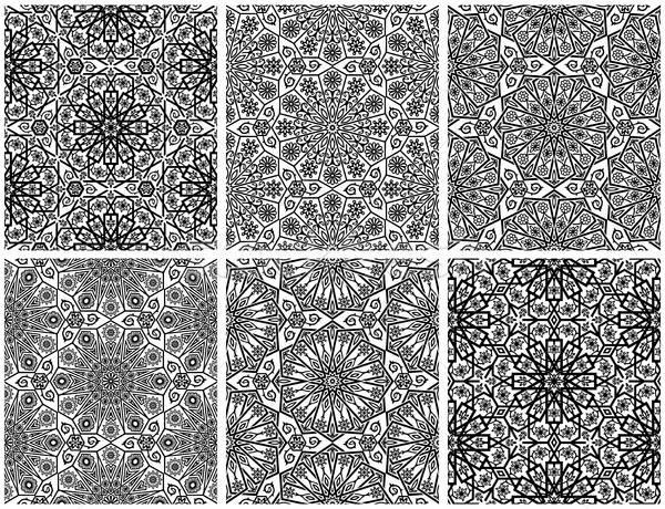 набор бесшовный цветочный структур традиционный орнамент Сток-фото © AbsentA