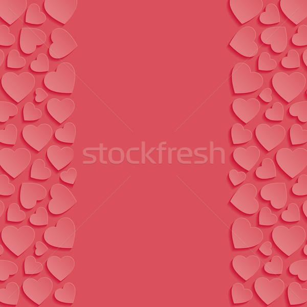Résumé coeurs mariage fond rétro wallpaper Photo stock © AbsentA