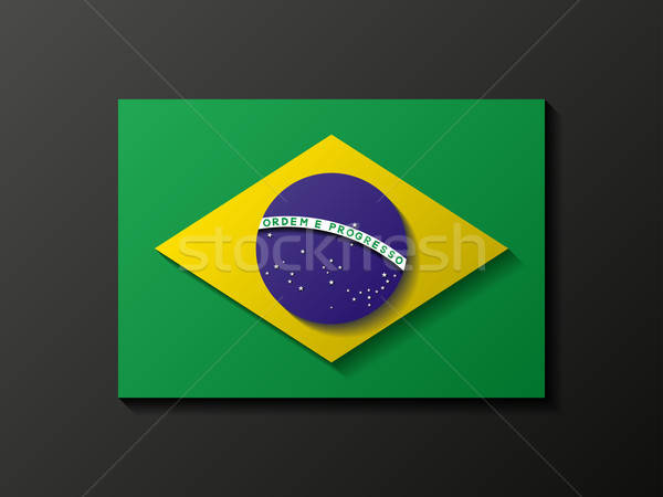 Modern style brazilian flag Stock photo © AbsentA
