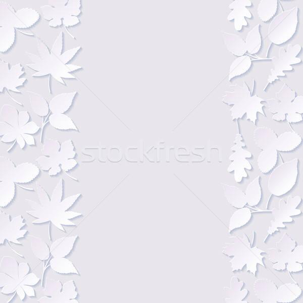 аннотация бумаги листьев текстуры природы дизайна Сток-фото © AbsentA