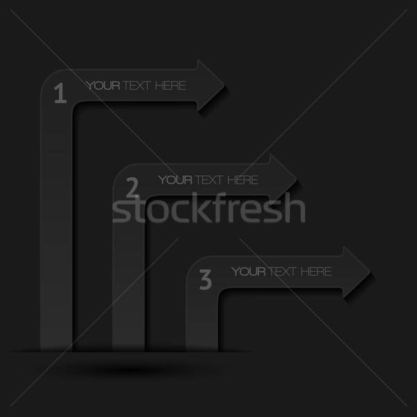 banner, arrow, abstract, modern, style, background, design, illustration, shape, pattern, decorative Stock photo © AbsentA
