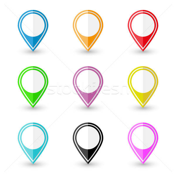 Set of location pin icons Stock photo © AbsentA