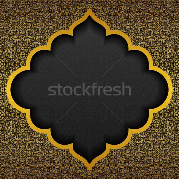 Traditioneel ornament ontwerp achtergrond zwarte retro Stockfoto © AbsentA