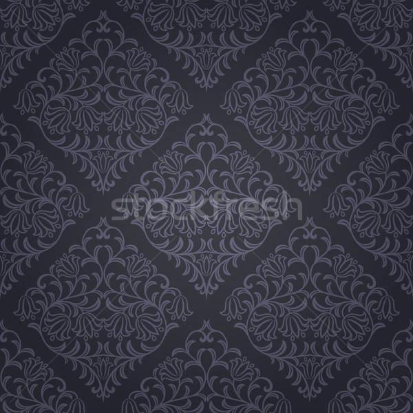 Naadloos patroon retro blad achtergrond Stockfoto © AbsentA