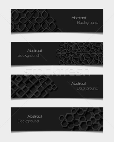 Set of abstract modern style banners. Vector illustration Stock photo © AbsentA