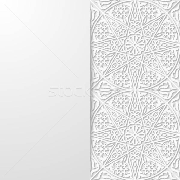 Abstrato tradicional ornamento projeto papel de parede asiático Foto stock © AbsentA