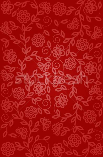 Foto d'archivio: Senza · soluzione · di · continuità · floreale · pattern · retro · texture · design
