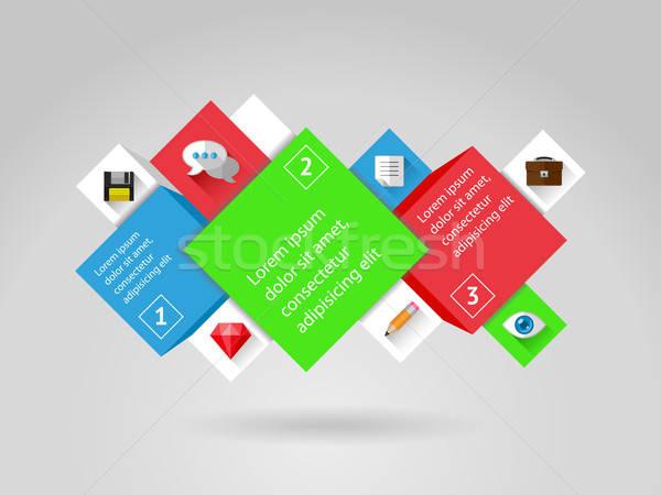 Ui infografía web elementos eps10 lápiz Foto stock © AbsentA