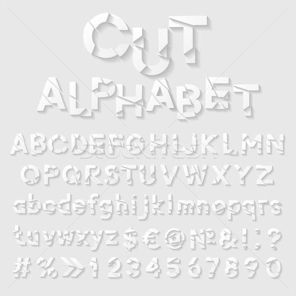 декоративный Cut бумаги алфавит дизайна вопросе Сток-фото © AbsentA