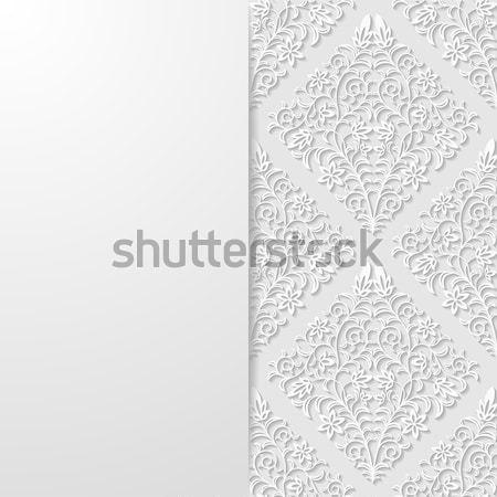 Abstract traditioneel ornament ontwerp asian kaart Stockfoto © AbsentA