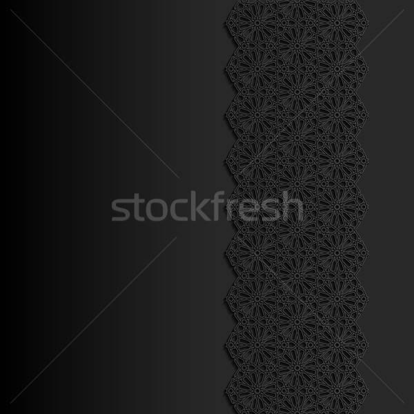 аннотация традиционный орнамент дизайна черный азиатских Сток-фото © AbsentA