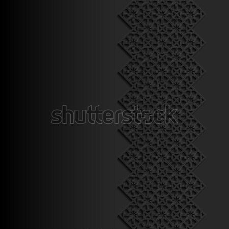 Résumé traditionnel ornement design noir asian Photo stock © AbsentA