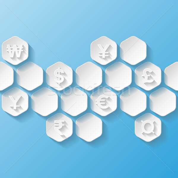 Abstract background with currency symbols. Vector illustration Stock photo © AbsentA