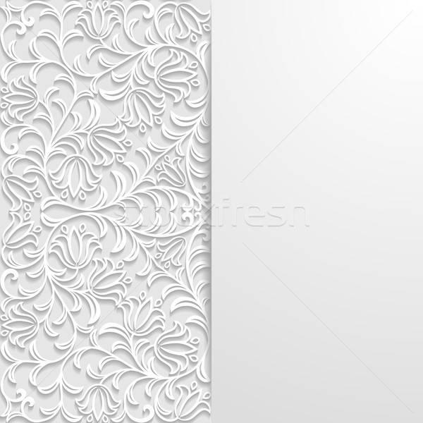 Soyut Retro beyaz model gölge Stok fotoğraf © AbsentA