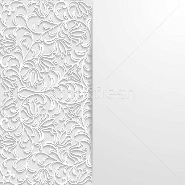 Abstract retro witte patroon schaduw Stockfoto © AbsentA