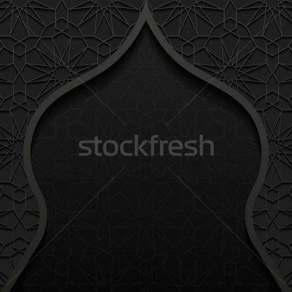 Résumé traditionnel ornement texture fond noir Photo stock © AbsentA