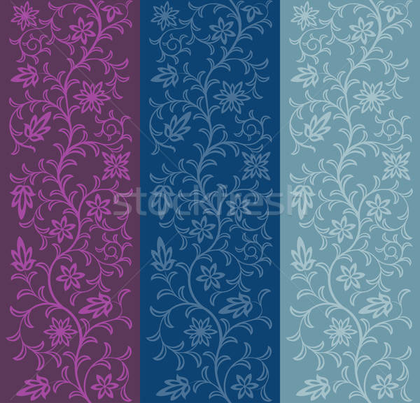 Naadloos patroon blad achtergrond retro Stockfoto © AbsentA