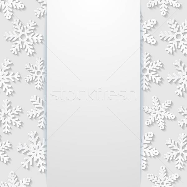 Résumé flocons de neige papier nature hiver blanche Photo stock © AbsentA