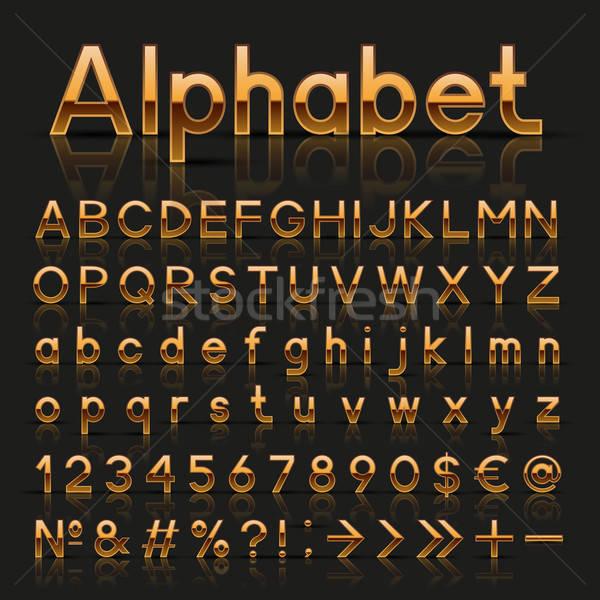 Decorativo alfabeto design metal questione Foto d'archivio © AbsentA