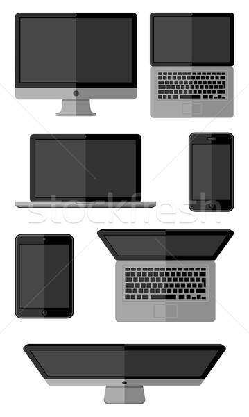 Set of isolated gadgets Stock photo © AbsentA