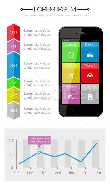Stock fotó: Ui · infografika · háló · elemek · terv · eps10