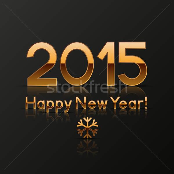 Happy new year carte de vœux papier heureux bleu rétro Photo stock © AbsentA