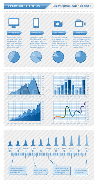 Infográficos elementos eps10 telefone assinar teia Foto stock © AbsentA