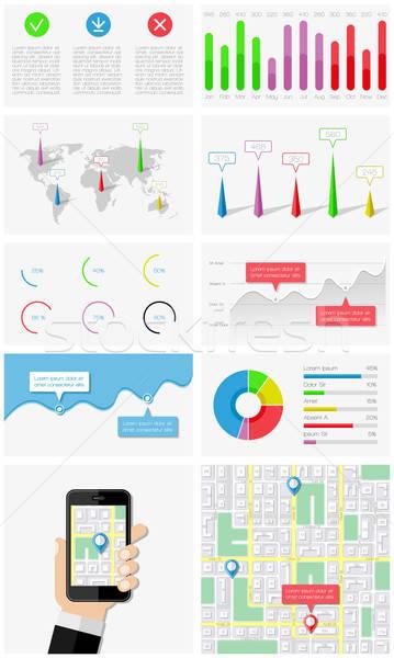 Ui 要素 インフォグラフィック ユーザー インターフェース インターネット ストックフォト © AbsentA