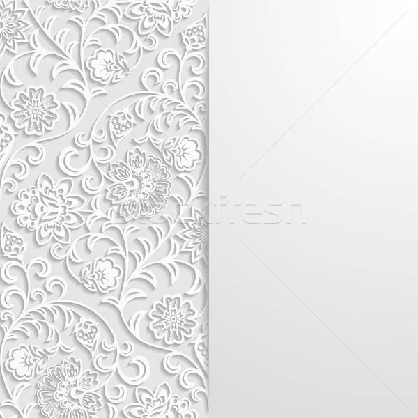 Resumen floral retro wallpaper planta vintage Foto stock © AbsentA