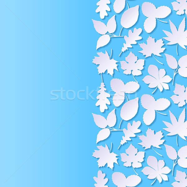 аннотация бумаги листьев природы дизайна лист Сток-фото © AbsentA
