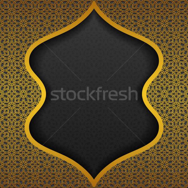 традиционный орнамент дизайна черный темно азиатских Сток-фото © AbsentA