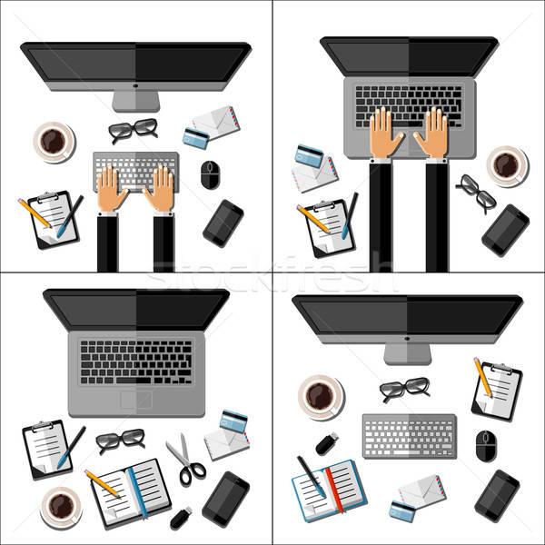 集 現代 業務 辦公室 手 筆 商業照片 © AbsentA
