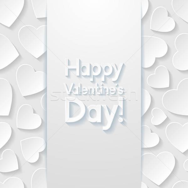 Stockfoto: Valentijnsdag · wenskaart · papier · abstract · hart · ontwerp