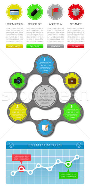 Ui infographics web elemanları dizayn eps10 Stok fotoğraf © AbsentA