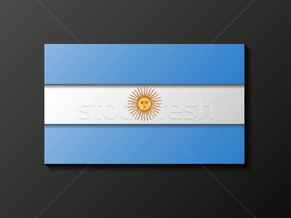 Modern stílusú argentín zászló absztrakt terv háttér Stock fotó © AbsentA